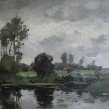180 a. van voorden - polderlandschap kortenhoef ca 1912