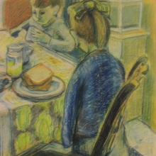 269 e. diependaal - meisje met jongen aan tafel