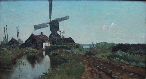 Korenmolen De Lelie van P.J.C. Gabriël (1828-1903)